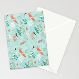 Surfs Up Blue Stationery Cards