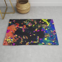 Space is the answer. Universe in a black hole Rug