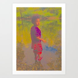 She Listens At Golden River And Feels An Overseeing Power Art Print