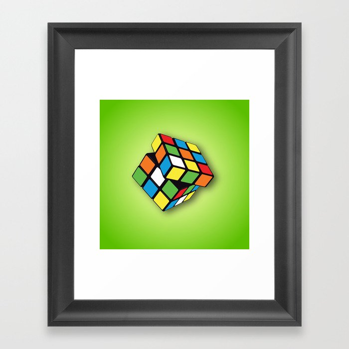exquisite design sale retailer classic style Rubik's Cube 3D Framed Art Print by maniacreations