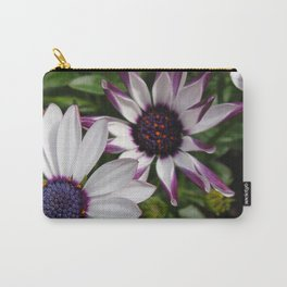 Purple and White Osteospermum Carry-All Pouch