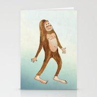 sasquatch Stationery Cards featuring Sasquatch by Stephanie Marie Steinhauer