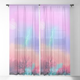 Holy Fire Sheer Curtain