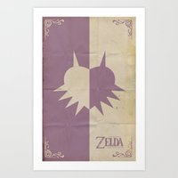 majoras mask Art Prints featuring Majoras Mask by cbrucc