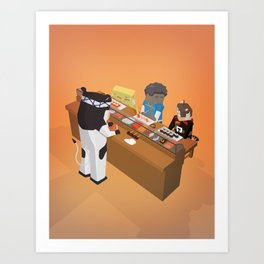 The Nick Yorkers in September Art Print