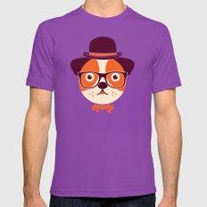 Hipster Dog LARGE Ultraviolet Mens Fitted Tee