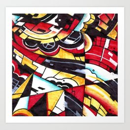 Drsstract2 Art Print