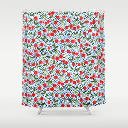 Cherries! by Veronique de Jong Shower Curtain