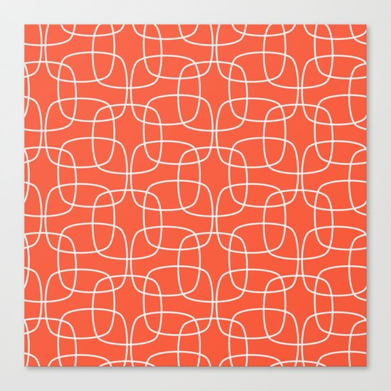 Square Pattern Flame Canvas Print