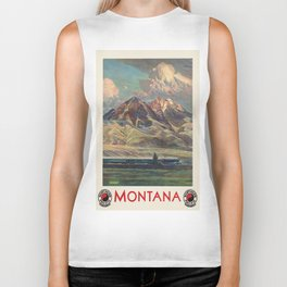 Vintage poster - Montana Biker Tank