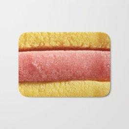 Yellow Light Red Colored Bubble Gum Bath Mat