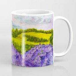 Lavender Fields Watercolor Coffee Mug