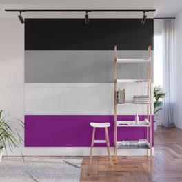 Flag of asexuality Wall Mural