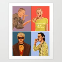 trainspotting Art Prints featuring Trainspotting by David Amblard