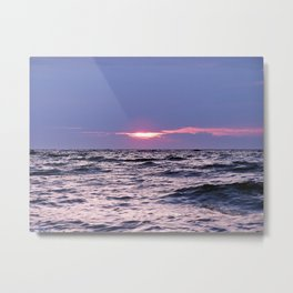 Water level Sunset Metal Print