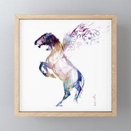 Horse (New Pegasus) Framed Mini Art Print