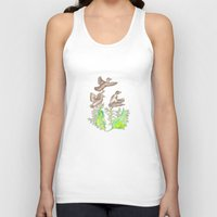 ducks Tank Tops featuring  Wild ducks by Thesecretcolors