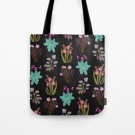 carnivorous plants black Tote Bag