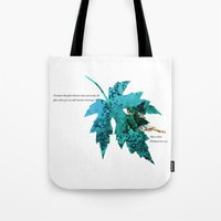 tinker bell Tote Bags featuring Tinker Bell I'll always love you by Chien-Yu Peng