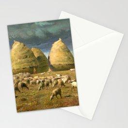 """Jean-François Millet """"Haystacks - Autumn"""" Stationery Cards"""