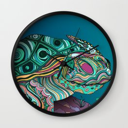 Zen Turtle Bohemian Patterns Wall Clock