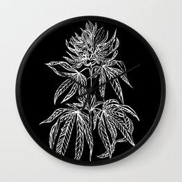 Reverse Cannabis Illustration Wall Clock
