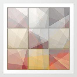 Abstract triangle art Art Print