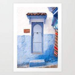 Doorways - Morocco - Chefchaouen The Blue City Art Print