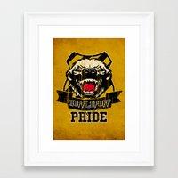 hufflepuff Framed Art Prints featuring Hufflepuff Pride by Geekleetist
