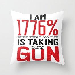 Guns & Second Amendment Throw Pillow