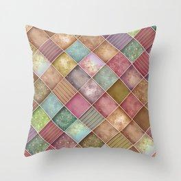 Diamond Shape Christmas Pattern 2 Throw Pillow