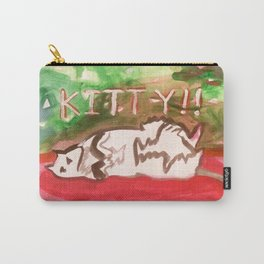 Kitty in Pink Carry-All Pouch