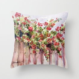 Roses: Over the Top Throw Pillow