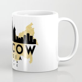 MOSCOW RUSSIA SILHOUETTE SKYLINE MAP ART Coffee Mug