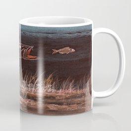 Trout Attack In Brown Coffee Mug