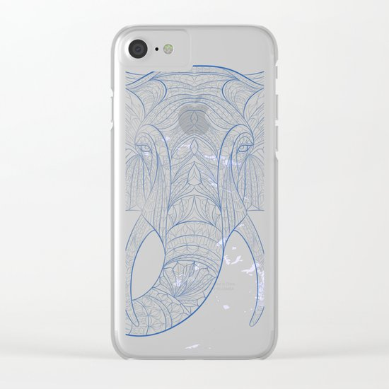 Ethnic Elephant Clear iPhone Case