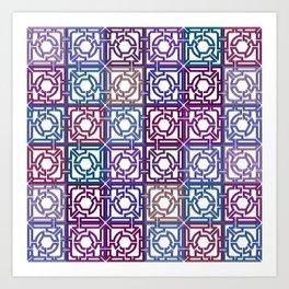 Colorful Maze V Art Print