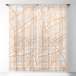 Street MAP Cancun // Orange Sheer Curtain