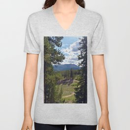 Between Two Trees Unisex V-Neck