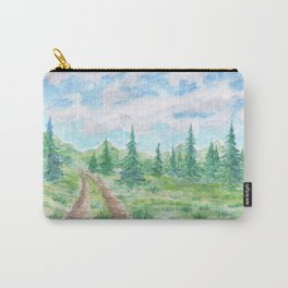 Road in spruce woodlands Carry-All Pouch
