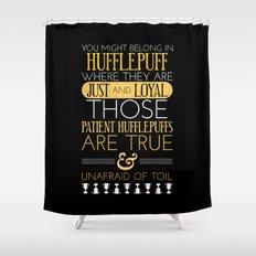 Hufflepuff Shower Curtain