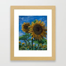 Sunflowers #008 Framed Art Print