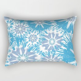 Blue Pansy Garden Stars Rectangular Pillow