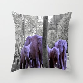 Purple guests Throw Pillow