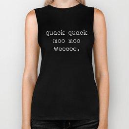 Quack Quack Biker Tank