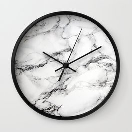 Greyish White Marble Wall Clock