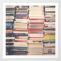 books Art Prints featuring Books  by Caroline Mint