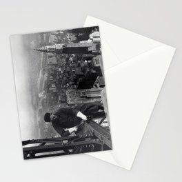 Construction worker Empire State Building NYC Stationery Cards