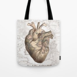 adventure heart-world map 1 Tote Bag