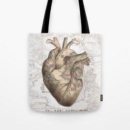 adventure heart-world map 1 Tote Bag